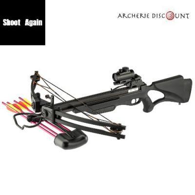 Arbalete poulie compound shoot again noir 175 lbs pas cher archerie discount