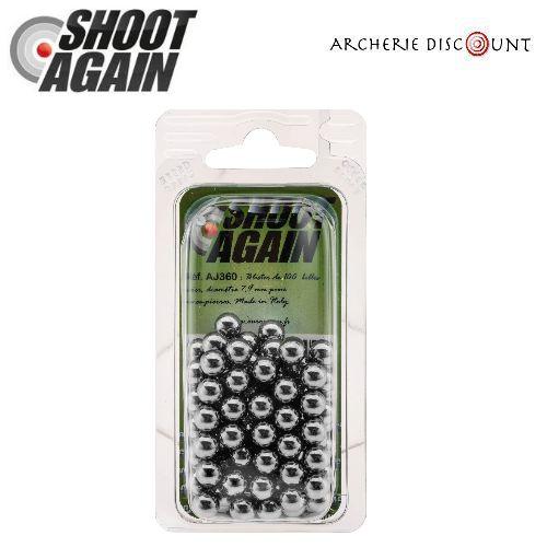 Billes acier pour lance pierre shoot again 7 9 mm de diame tre