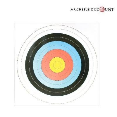 Cible ronde jaune bleu rouge noir pour arc archerie discount