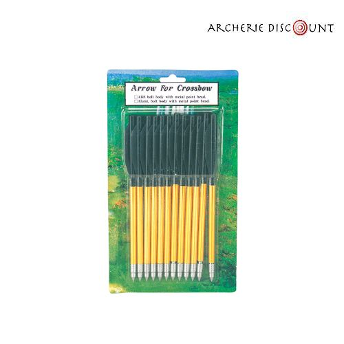 Flechette trait en aluminium pour arbalete archerie discount