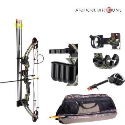 Pack complet arc compound m120 camo sombre archerie discount