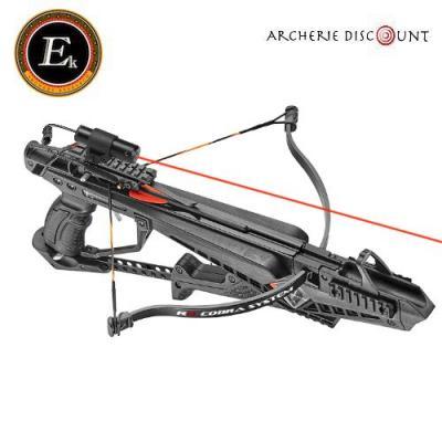 Pack pistolet arbalette ek archery cobra avec laser de tir