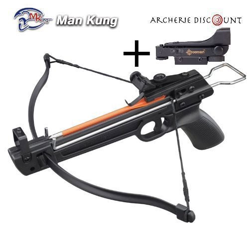 Pistolet arbalette shoot again man kung 50 avec point rouge