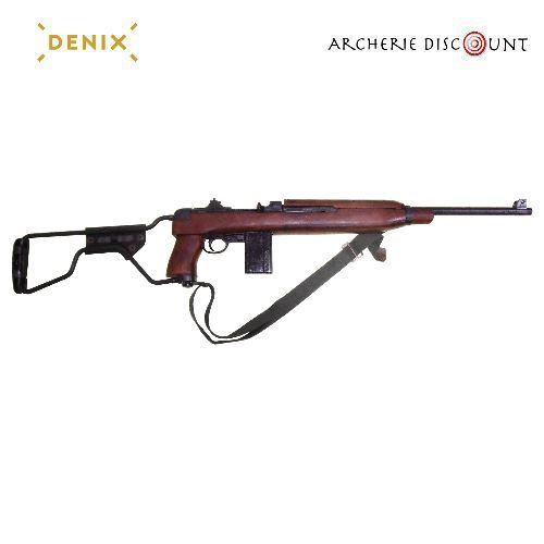 Re plique d arme en me tal carabine m1a1 de para ame ricain ww2