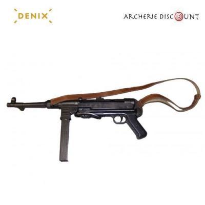 Re plique d arme me tal de cine ma mitraillette mp40 allemande