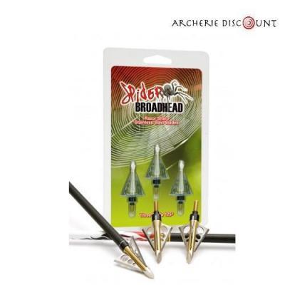POINTE SPIDER 3L 125 GRAINS (PACK DE 3)