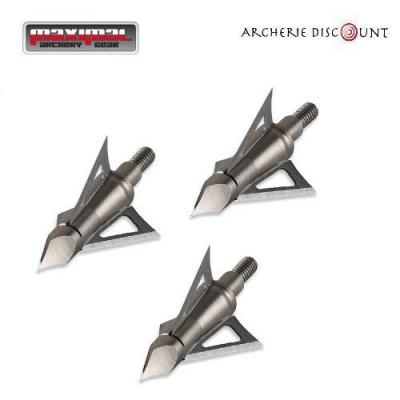 3 pointes de chasse fixed BLADE BROADHEADS POWER-CUT 150 gr maximal