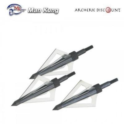 3 Pointes de chasse man kung en 4 lames
