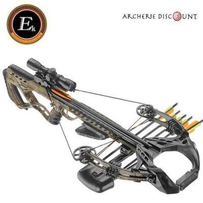 Arbalète Guillotine X camo ek archery de 185 lbs avec lunette