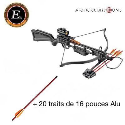 Arbalete ek archery Jaguar I Deluxe 175 Lbs - 210 FPS + 20 traits alu