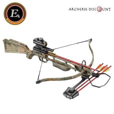 Arbalete ek archery Jaguar I camo 175 lbs pack deluxe