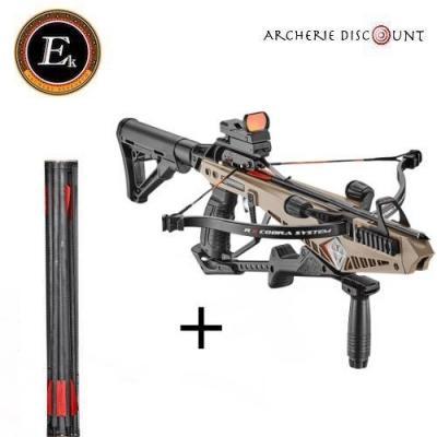 Arbalète COBRA système RX Deluxe 130 lbs - Ek Archery + 10 traits