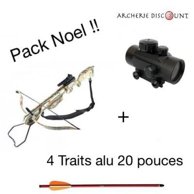 Pack  Arbalète Falcon camouflage  40 lbs + point rouge +4 traits