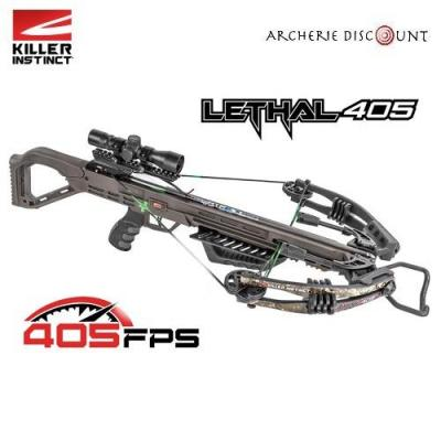 Arbalète à poulies LETHAL 405FPS -210 LBS PRO PACKAGE  TRUE TIMBER STRATA