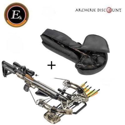 Arbalète Ek Archery Accelerator 410 snow -camo /185 lbs + housse de transport
