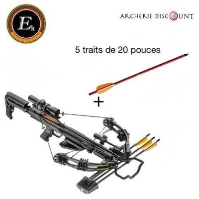Arbalète ek archery  Blade + 175 lbs noir + 5 traits alu