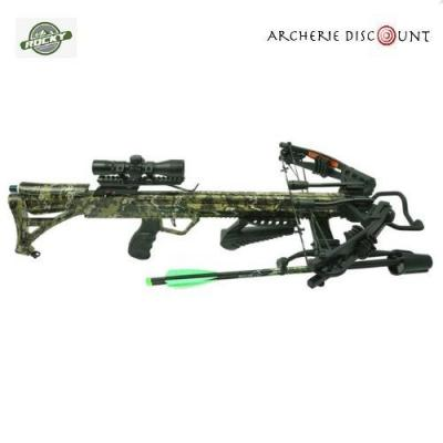 ROCKY MOUNTAIN COMPOUND CROSSBOW SETS RM-415' 415FPS / 215 LBS / 4X32 ILLUM. SCOPE / QUIVER AND COCKER