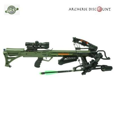 ROCKY MOUNTAIN COMPOUND CROSSBOW SETS RM-405' 405FPS / 200 LBS / 4X32 ILLUM. SCOPE / QUIVER AND COCKER