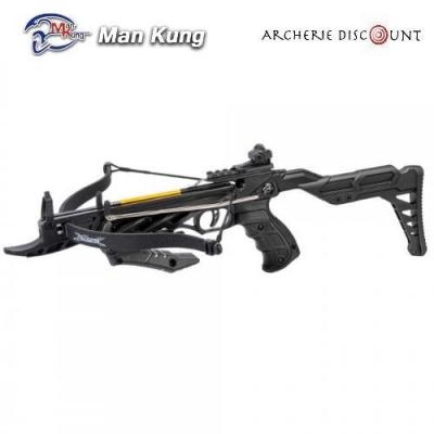Pistolet arbalete avec crosse Man Kung 80 LBS noir