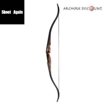 Shoot again Arcs One-Piece Bow Black - Red Pear 60''