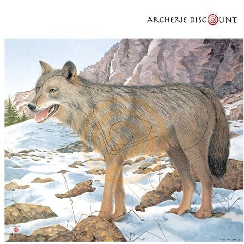 Blason en papier renforce loup