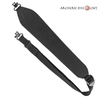 Bretelle néoprène pour  arbalète attache rapide en noir