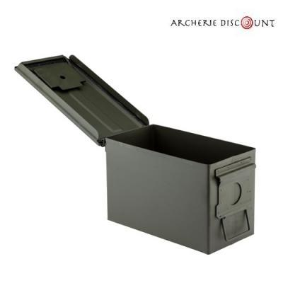 Caisse à munitions métallique vide