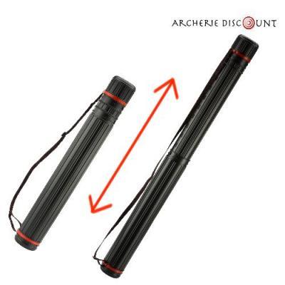 Carquois télescopique noir Archerie discount