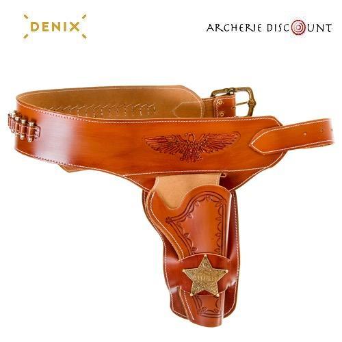 Ceinturon avec un holster she rif pour revolver western