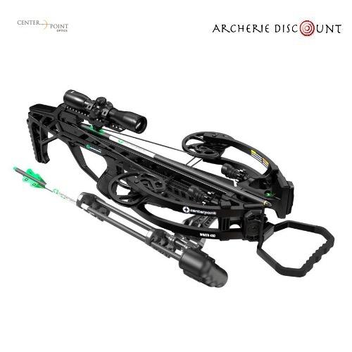 Center point wrath with silent crank package 430fps 4x32 illuminated scope quiver and cocker3