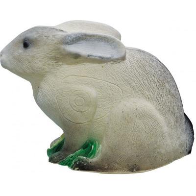 Cible 3D imago Lapin blanc avec oreilles couchées
