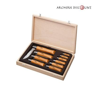 Coffret 10 couteaux collection Opinel