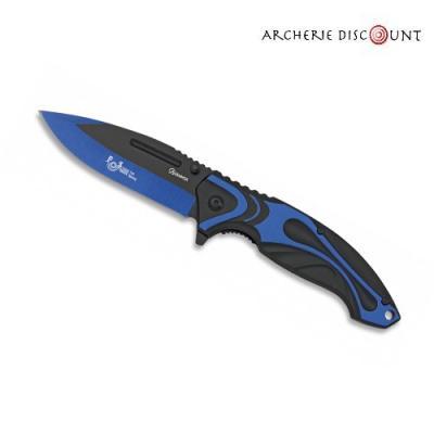 Couteau pliants albainox bleu à ouverture assistée