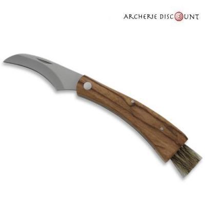 Couteau champignon manche bois