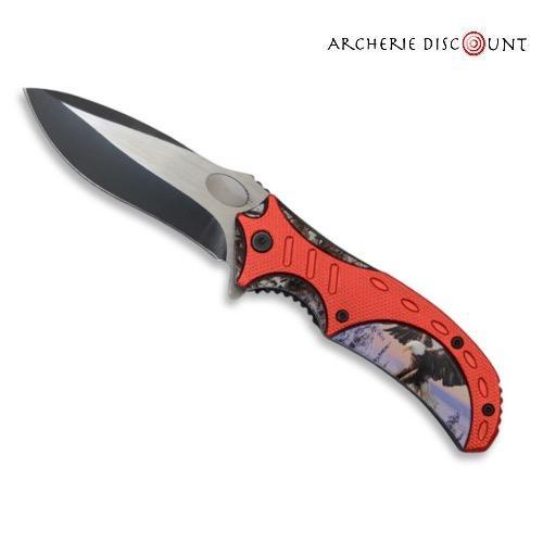 Couteau pliant avec aigle sur manche