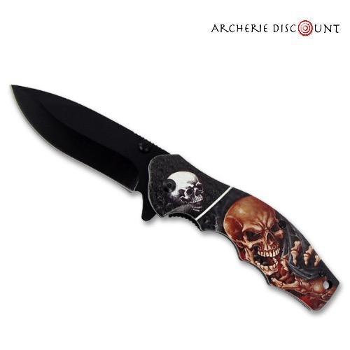 Couteau pliant tete de mort