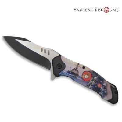 Couteau pliant WWII avec clip ceinture