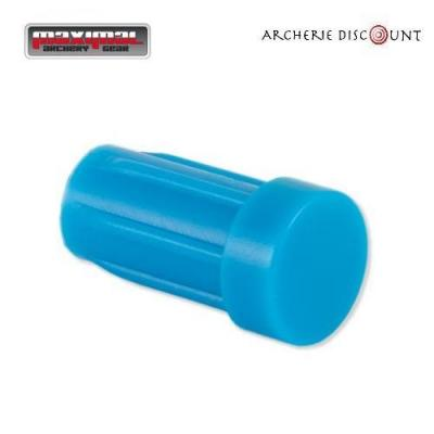 Encoche tête plate pour trait arbalète de 7,62 diametre couleur Bleu