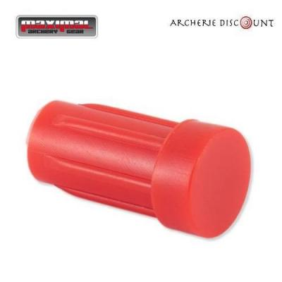 Encoche tête plate pour trait arbalète de 7,62 diametre couleur Rouge