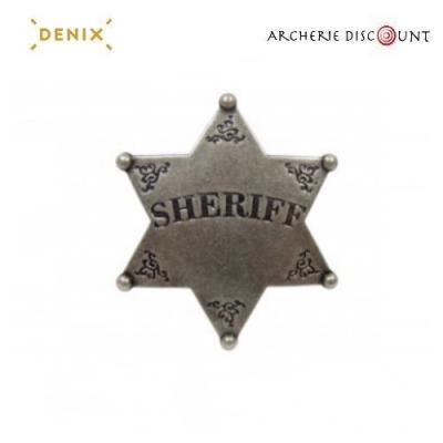 Réplique cinéma de l' étoile de shérif Denix
