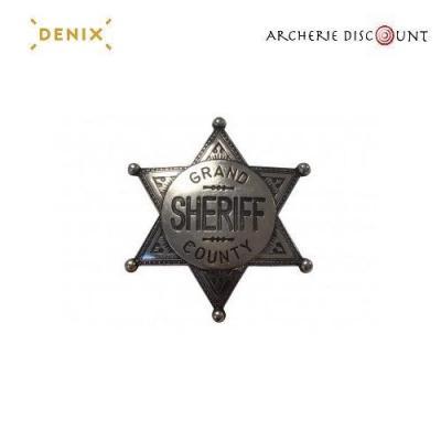 Réplique étoile de shérif gris Denix