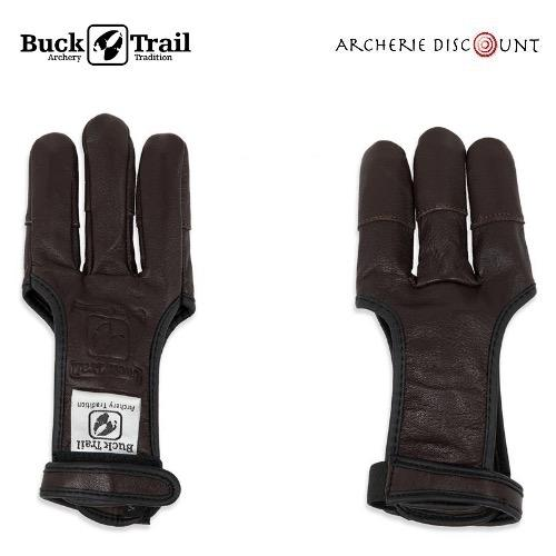 Gants de tir full palm deerskin marron