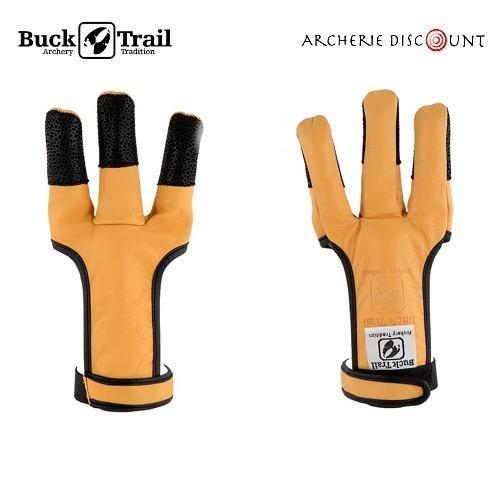 Gants de tir full palm kangoeroe tan avec doigts personnalise s noir