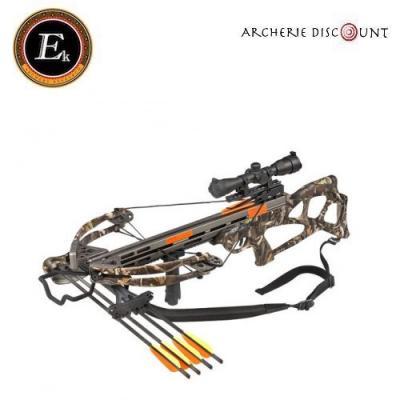 Kit Arbalète compound Ballistic camouflage  185 lbs ek archery