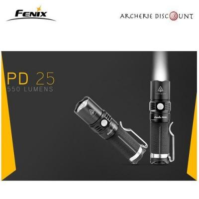 Lampe tactique PD 25 - 550 Lumens Fenix