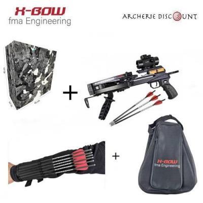 Méga pack Pistolet supersonique +sac de transport  + butte de tir
