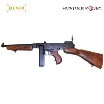 Réplique décorative Denix de la mitraillette Thompson M1928 - Chargeur droit