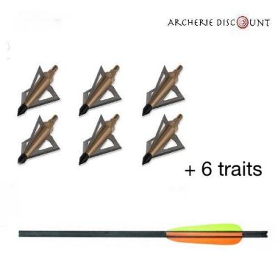 Pack 6 traits et pointe chasse