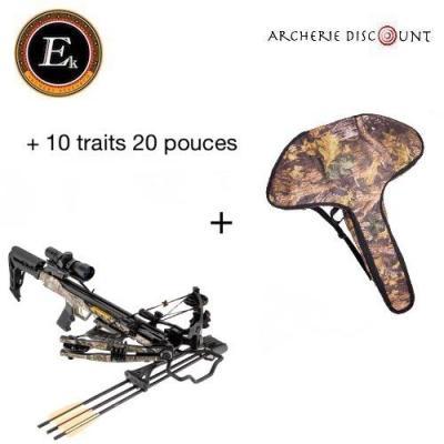Arbalète ek archery  Blade + 175 lbs camo + 10 traits + housse