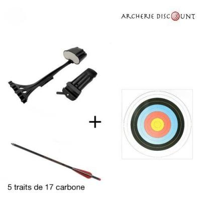 Pack carquois + 5 traits carbone + 5 blasons offerts